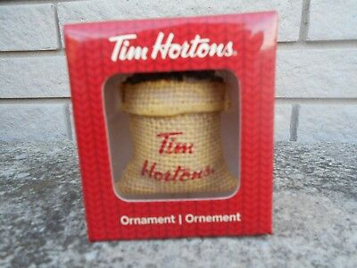 Tim Hortons Coffee Bean Bag Sack 2016 Christmas Tree Ornament