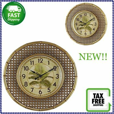 NEW!! Sterling And Noble 15.5-Inch Boca Raton Quartz Movement Wall Mount Clock