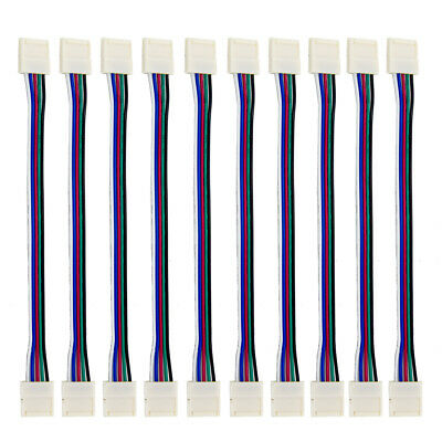 10X 5 Pin RGBW  5050 LED Strip light Extension Cable PCB Wire Connector 12mm