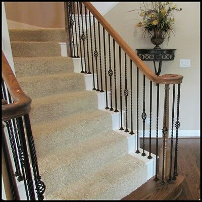 High quality powder coated wrought iron balusters, Iron stair parts iron railing