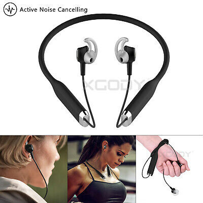 Active Noise Cancelling Wireless Bluetooth Headphones Over Ear Stereo Earphones
