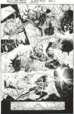 Wonder Woman, Flash, Cyborg, Manhunter Orig. Art-Eddy Barrows-Free Ship!