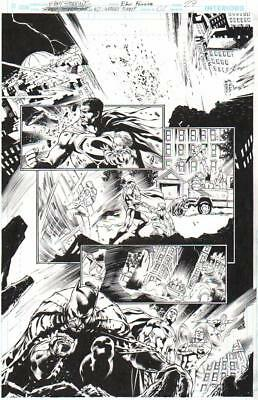 Eddy Barrows 2014 Batman, Superman, Green Lantern, Red Tornado Original Art!