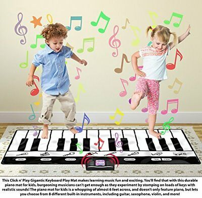 Toy Game Piano Mat Keyboard Play Musical Instruments Educational Electronic Home