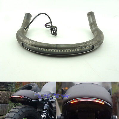 Cafe Racer Upswept Seat Frame Hoop Loop with LED Brake Turn Tail Light for Honda