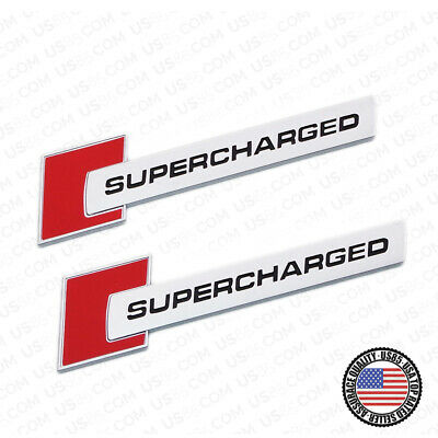 Audi ABS SuperCharged Side Fender Marker Logo Emblem Badge Decoration OEM