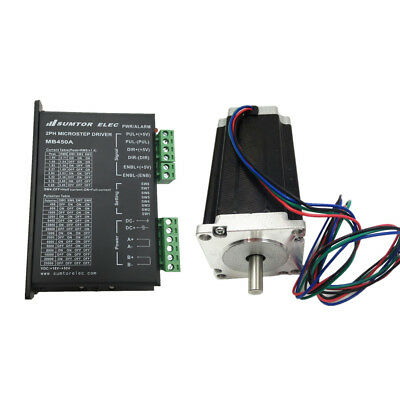 Nema23 3Nm 1.8º degree Stepper Motor 2ph 4-wire 4.2A L112mm with MB450A Driver