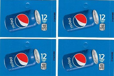 Pepsi 12 oz Can 4 Medium Soda Vending Machine Selection Calories Labels