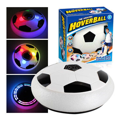 Kids Light Up Flashing LED Hover Ball PRO, Soft Foam with Glide Base, Football