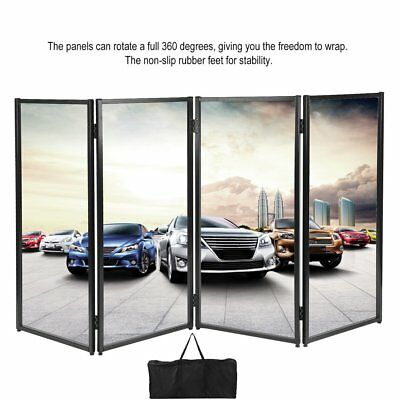 DJ Event Facade White/Black Scrim Metal Frame Booth Black Storage Bag NEW US BP