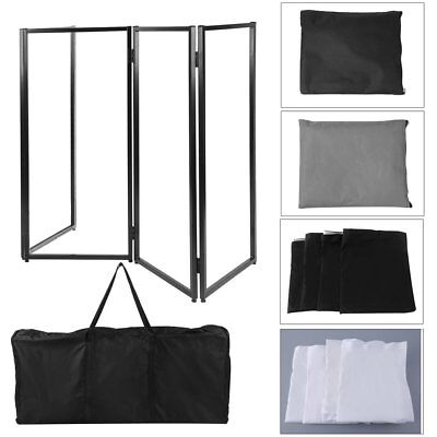 DJ Musician Event Facade Scrim Screen Metal Frame Booth With Carrying Bag US