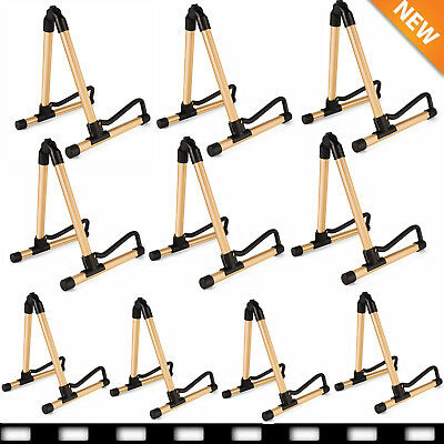10X Folding Guitar Floor A Frame Universal Acoustic Electric Bass Stand Holder B