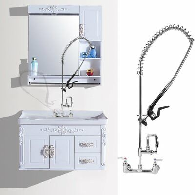 """Commercial Kitchen Heavy Duty Pre-Rinse Faucet with 12"""" Add-On Faucet NEW US"""