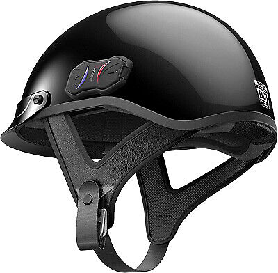Sena Gloss Black Cavalry Bluetooth 4.1 Motorcycle Half Helmet Fm Radio X Large