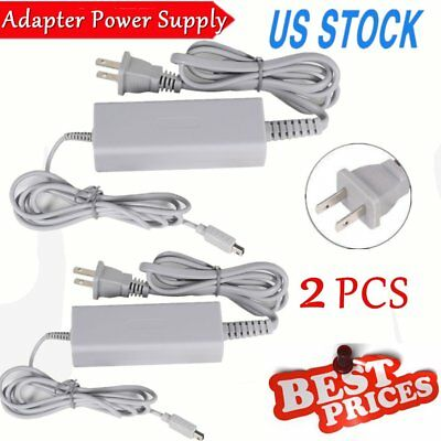 2X Fast Charge AC Charger Home Power Supply Wall Plug for Nintendo Wii U Gamepad