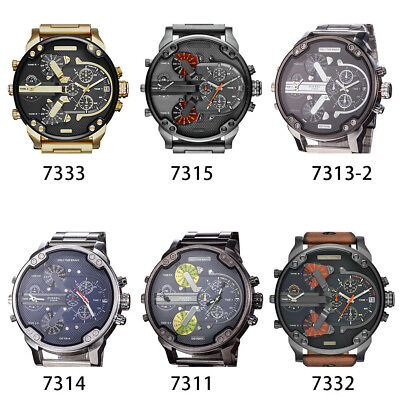 Luxury Men Sport Casual Stainless Steel Analog Quartz Wrist Watch Wristwatch Pro