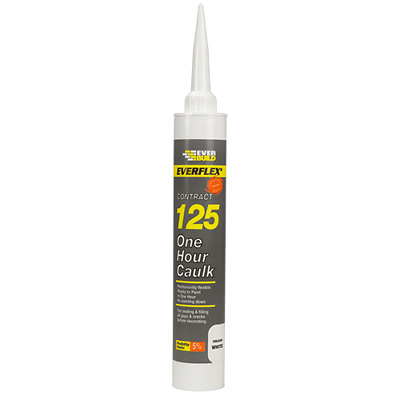EVERBUILD Decorators 125 One Hour Caulk Quick Drying Paintable Brown (112)