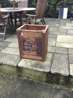 Old Tea Trunk Chest Box Storage Bedside Table Cabinet Window Box London Free P+P
