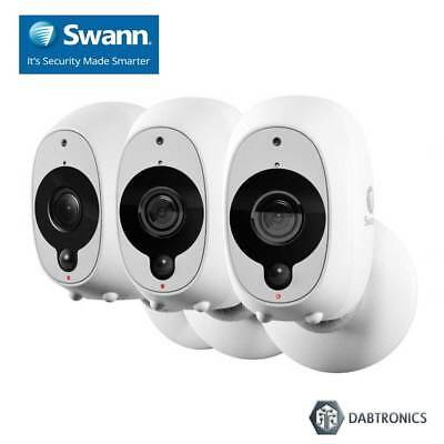 Swann Smart Security Wire-Free HD 1080P Camera (3 Pack)