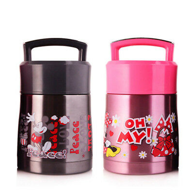 Stainless Steel Kids Cute Insulated Cartoon Lunch Box Thermal Food Jar Container