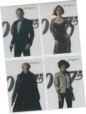 "James Bond 50th Anniversary Series 2 - 4 Card ""Skyfall Posters"" Chase Set SF1-4"