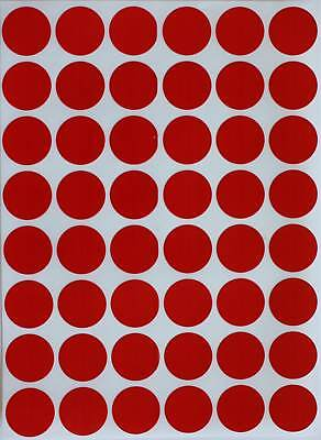 Red Circle Stickers 17mm Round Labels Permanent Adhesive Marking Dots 720 Pack