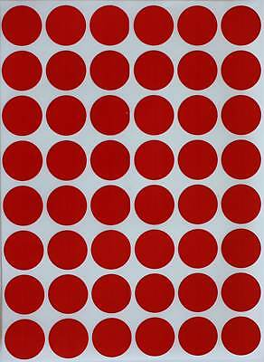 "Red Sticker Dots 17mm Labels ~3/4"" Inch Round Circle Adhesive Stickers 336 Pack"