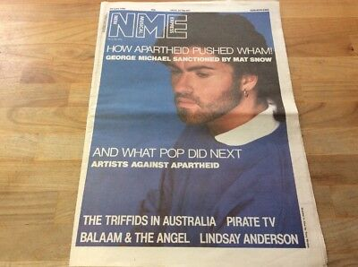 NME 1986 George Michael Front Cover, Wham, The Triffids Etc