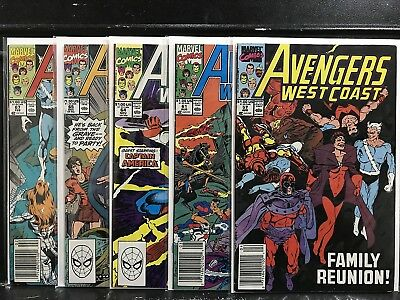 Lot of 5 Avengers West Coast #57 61 64 65 67 (1989 Series Marvel) Shipping Deal!