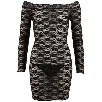 Cottelli Collection Lace Dress Black - Sexy clothes