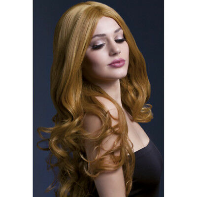 Fever Long Wig With Curls - Brown - Wigs