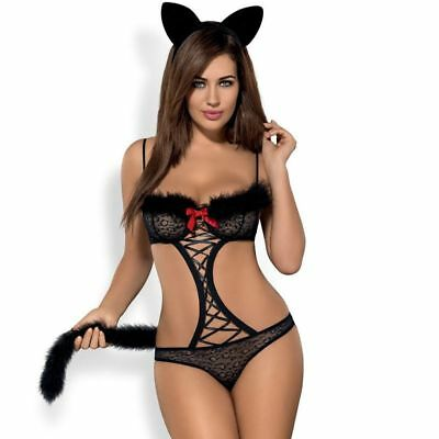 Obsessive GEPARDINA 3PCS COSTUME L/XL - Sexy clothes