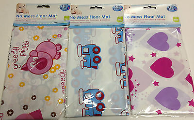 First Steps No Mess Floor Mat Towel Child Kids Toddlers Easy Clean Feeding Floor