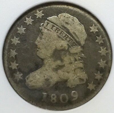 1809 Capped Bust Dime - Anacs Vg10