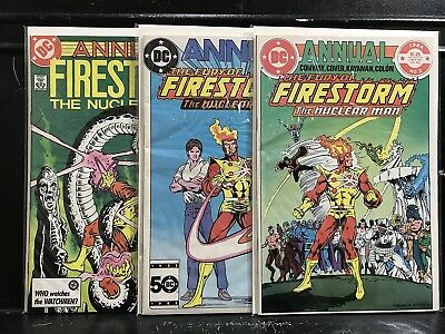 Lot of 3 Fury of Firestorm Annuals #2 3 4 (1982 DC) Combined Shipping Deal!