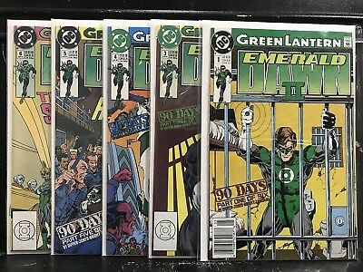 NEARLY COMPLETE Green Lantern Emerald Dawn II #1 3 4 5 6 (1991 DC) Shipping Deal