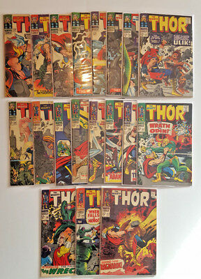 Thor Silver Age Lot #126 - #157 19 Issues! Inhumans Origins! LOTS OF1st APP's!