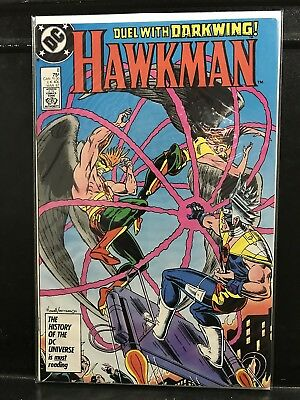 Hawkman #8 (1986 DC) Duel with Darkwing! - Shipping Deal! Buy 2 Get 1 Free!