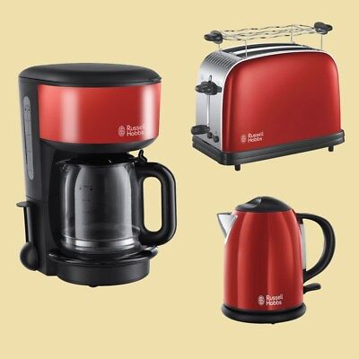 Russell Hobbs Colours Plus+ Flame Red Kaffeemaschine/ Toaster/ Wasserkocher 1,0L