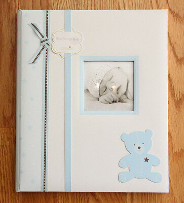 Pearhead L'il Peach Baby Boy Memory Book ~ Blue ~ Teddy Bear ~ Years 1 to 5 ~