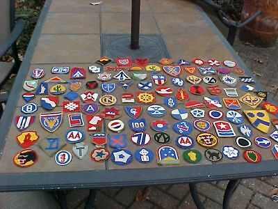 Original Wwii Lot Of 105 Different Us Patches