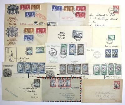 Bermuda Covers, First day covers from Collection. 1930's, 1940's.