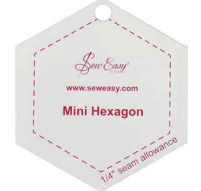 Sew Easy Mini hexagon patchwork quilting template