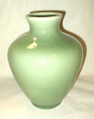 Vintage Rookwood Celadon Green Gloss Bulbous Vase Circa 1945 Model #6311