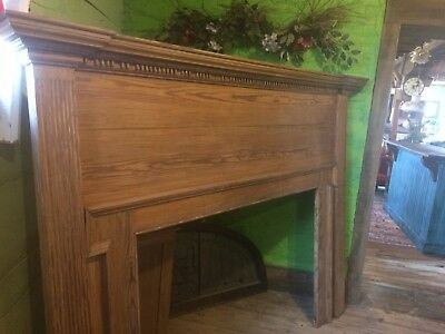Early Vintage Heart Pine Fireplace Mantle