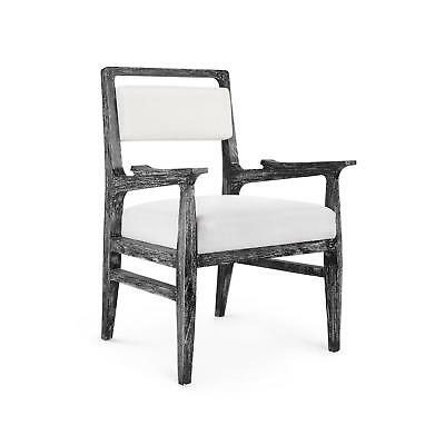 Bungalow 5 James Traditional Black Limed Cape Lilac Mahogany Armchair Set of 2