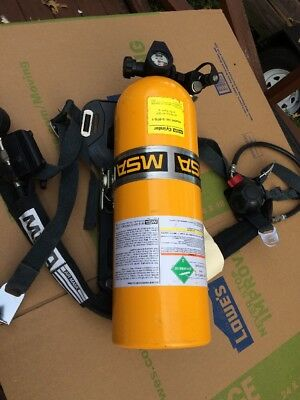 MSA SCBA  5-978-1 AIR BREATHING CYLINDER with ACESSORIES..Free Shipping