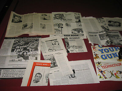 old movie ads papers flyers, some cut, columbia pressbook carry grant, hitler