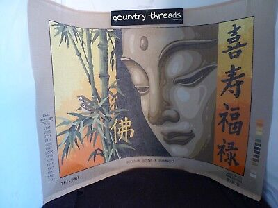 Country Threads Buddha Birds & Bamboo 50Cm X 70Cm Printed Tapestry