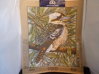Country Threads Australian Kookaburra 50Cm X 60Cm Printed Embroidery Tapestry